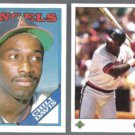 CHILI DAVIS 1988 Topps Traded + 1989 Upper Deck.  ANGELS