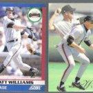 MATT WILLIAMS 1991 Score SuperStar #77 + 1993 Flair #148.  GIANTS