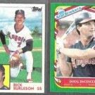 RICK BURLESON 1984 Topps + DOUG DECINCES 1987 Fleer Star Sticker.  ANGELS