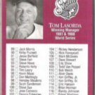 TOM LaSORDA 1991 Studio #262.  DODGERS