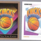 KNICKS (2) Card Team Logo Lot - 1990 + 1991 Skybox.  NEW YORK