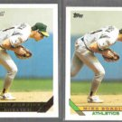 MIKE BORDICK 1993 Topps Gold Insert w/ sister #639.  A's