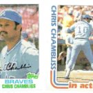 CHRIS CHAMBLISS 1982 Topps #320 + #321 Action. BRAVES