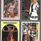 DENNIS RODMAN (4) Card Lot (1989 - 1995). PISTONS / SPURS