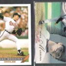 MIKE MUSSINA 1993 Topps #710 + 1993 Flair #154. ORIOLES