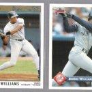 BERNIE WILLIAMS 1992 Premier #109 + 1993 Donruss #577. YANKEES
