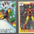 IRON MAN (2) Card Marvel Lot w/ 1991 Impel #13 + 1992 Skybox #38. Comic