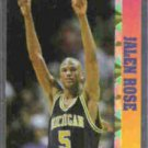 JALEN ROSE 1993 Ballstreet News Insert N#OB.  MICHIGAN