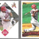 KENDRYS MORALES 2006 Just Minors #61 + 2011 Topps #651.  ANGELS
