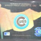 CHICAGO CUBS 1992 UD Heroes Of Baseball Team Logo HOLOGRAM.
