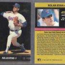 NOLAN RYAN (2) 1991 Gold Leaf Moments Inserts #BC25.  RANGERS