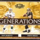 DAN MARINO / DREW BREES 2007 Donruss Threads Generations Insert #G-1.