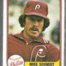 MIKE SCHMIDT 1981 Fleer #640.  PHILLIES