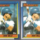 DAVE VALLE (2) 1990 Topps #76.  MARINERS