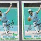 AL HRABOSKY (2) 1982 Topps #393.  BRAVES