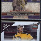 TIM THOMAS 2011 Panini Crease is the Word Insert + 2010 Winter Classic.  BRUINS