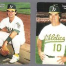 TONY LaRUSSA #1 + Mike Gallego #23 of 28.  1989 Mother's Cookies Glossy