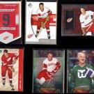 GORDIE HOWE (6) Card Lot (2005 - 2012)  RED WINGS / WHALERS