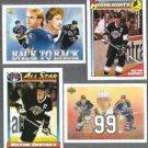 WAYNE GRETZKY (4) Card Lot (1991 + 1992)  KINGS