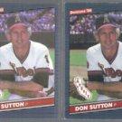 DON SUTTON 1986 Leaf #236 + 1986 Donruss #611.  ANGELS