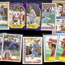 PETE ROSE (11) Card Early 80's Lot w/ Schmidt.  PHILLIES  Nice Shape