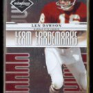 LEN DAWSON 2008 Leaf Limited Team Trademarks #'d Insert 788/999.  CHIEFS