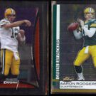 AARON RODGERS 2008 Bowman Chrome #BC135 + 2009 Topps Finest #22.  PACKERS