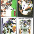 VIKINGS (4) Card Lot w/ Carter, Moon, Randle, Smoot
