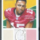 MICHAEL CRABTREE 2009 Topps Player Worn Jersey Relic Insert #NCR-MC.  49ers