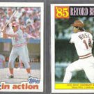 JOHNNY BENCH 1982 Topps + PETE ROSE 1986 Topps.  REDS