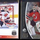 MARTIN BRODEUR 2013 UD SP #93-31 + 2010 UD SP Authentic HOLO FX #FX6.  NJ.