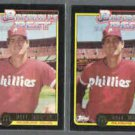 DALE MURPHY (2) 1992 Topps McDonald's Best Gold Inserts #30 of 44.  PHILLIES