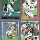 JETS (4) Card Lot w/ Boomer, Keyshawn, Toon, Chrebet.