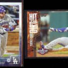 YASIEL PUIG 2015 Topps Opening Day #198 + Hit The Dirt Insert #HTD-12.  LA