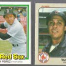 TONY PEREZ 1981 Donruss #334 + 1983 Fleer #191.  RED SOX