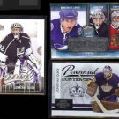 JONATHAN QUICK (3) Card Lot (2009, 2010 + 2014) w/ UD MVP Silver Sig.  KINGS