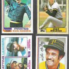 PIRATES (4) Card Topps Lot (1982 + 1987) w/ RHODEN, MADLOCK ++