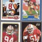 49ers (4) Card Lot w/ Young, Craig, Haley, Norton Jr.