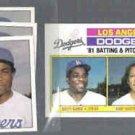 DUSTY BAKER (3) 1981 Topps mini Stickers #182 + 1982 Topps #311.  DODGERS