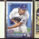 CLAYTON KERSHAW (3) Card Topps Lot (2010, 2011 + 2015).  DODGERS