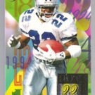 EMMITT SMITH 1994 Flair Hot Numbers Insert #13 of 15.  COWBOYS