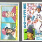 TOM SEAVER 1982 Topps #756 w/ Griffey + 1984 Topps #740.  REDS / METS