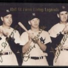 JOE D, MANTLE, Ted WILLIAMS 1993 Sports Stars USA (Gold Sigs) HOF Living Legends