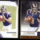 SAM BRADFORD 2010 Score Rookie #387 + 2012 Panini Absolute #99.  RAMS