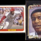 BOB GIBSON 2014 Topps Heritage Flashbacks Ins. + 2012 Goodwin Champs.  CARDS