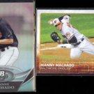 MANNY MACHADO 2011 Bowman Platinum Report Insert + 2015 Topps.  ORIOLES