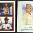 ANDY PETTITTE 1995 Topps On Deck #640 + 2010 Topps A&G #26.  YANKEES