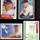 MICKEY MANTLE (4) Card Reprint Lot (1988, 1991 + 2006)  YANKEES
