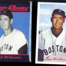 TED WILLIAMS 1990 JBC Collect-A-Book + 1989 Tall Bowman.  RED SOX