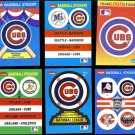 CUBS Fleer Sticker Lot (6) Card Lot - all different - Late 80's - early 90's